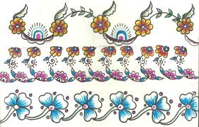 mehndi sketch embroidery painting latest border designs lentine