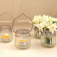 glass tea light holders glass hanging tea light holder by red lilly notonthehighstreet com