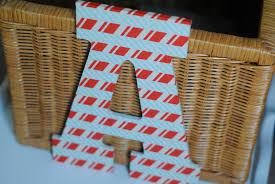 washi tape wooden letter kids craft idea making lemonade