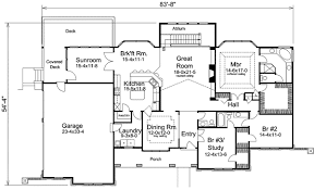 ranch floor plans atrium ranch home plan with sunroom 57155ha architectural