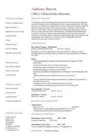 office manager resume admin cv template pertamini co