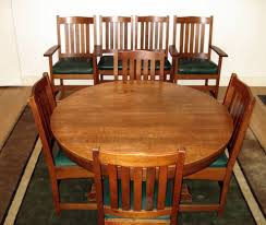 Antique Oak Dining Tables Voorhees Craftsman Mission Oak Furniture Vintage L U0026 J G