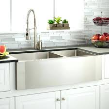 double basin apron front sink endearing 36 inch stainless steel curved front farmhouse apron 60