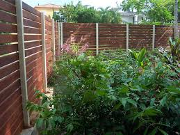 horizontal fence exposed metal posts fences pinterest