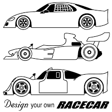 drawn race car outline pencil and in color drawn race car outline