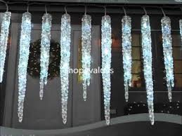 ge led icicle lights costco 19 count twinkling led ice crystal icicle set youtube