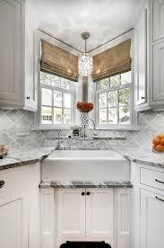 corner kitchen sink decorating ideas kitchen transitional with