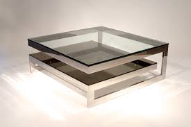 Glass Sofa Table Modern Square Glass Coffee Table In Living Room Chocoaddicts