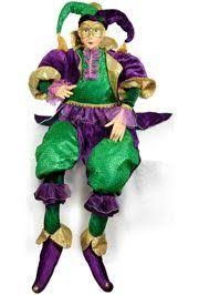 jumbo mardi gras x 21in wide jumbo mardi gras sitting jester doll