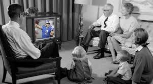 family thanksviging football tv viewing si