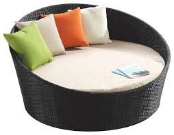 Outdoor Lounge Chair With Canopy Attractive Round Chaise Lounge Shop Rb 016 Outdoor Round Day Bed
