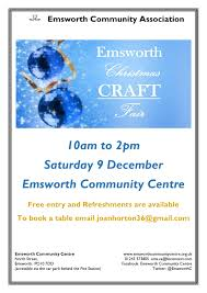 eca christmas craft fair u2013 sat 9th dec emsworth community centre