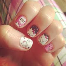 the 65 best images about hello kitty nails on pinterest nail art