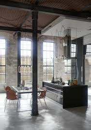 Industrial Theme by An Industrial Theme Of Apartment Interior Design Showing A