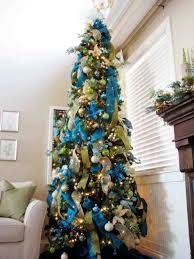 white and blue tree decorations cheminee website
