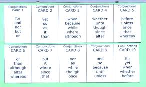 english grammar conjunction writing exercises