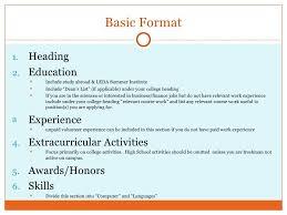 high resume for college format heading proper apa essay formatting sle cover letter child care