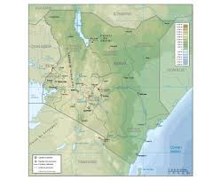 geographical map of kenya maps of kenya detailed map of kenya in tourist map