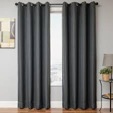 Grey Faux Suede Curtains Softline Home Fashions Drapery Emmen Linen Panel