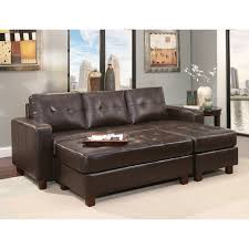 claire leather reversible sectional and ottoman abbyson montgomery leather reversible sectional and ottoman free