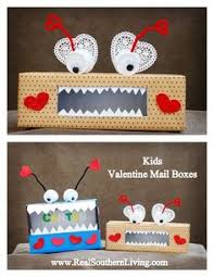 Monster Valentine Box Decorating Ideas by Hungry For Some Lovin U0027 Tissue Box Crafts Tissue Boxes And Cards
