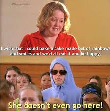 Mean Girls Memes - damian hides his identity to call out the weirdo coming to school