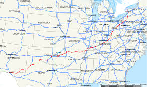 Historic Route 66 Map by U S Route 62 Wikipedia
