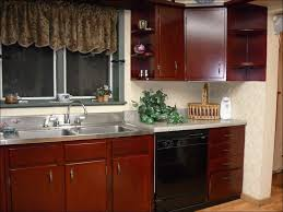 kitchen dark cherry color galley kitchen remodel cherry corner