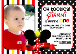 Birthday Invitation Cards For Kids First Birthday Mickey First Birthday Invitations Iidaemilia Com