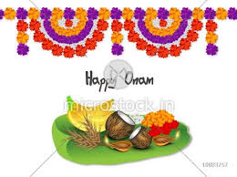 Beautiful Flower Decoration Creative Illustration Of Religious Offerings On Banana Leaf With