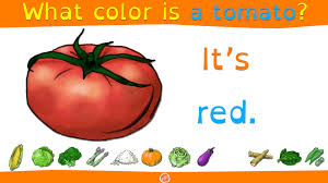 what color is food vocabulary and color practice for what color