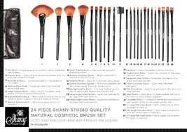piece make up brush set amazon shany studio quality natural cosmetic brush set with leather pouch 24 count shany beauty