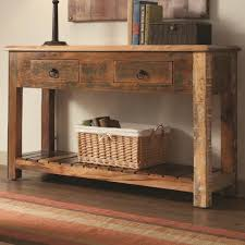 furniture astonishing solid wood rustic console table design