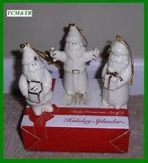 mikasa splendor set of 3 santa ornaments nib 30 ebay