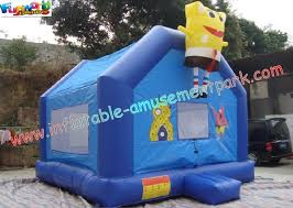 cool spongebob small inflatables commercial bouncy castles has two