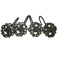 beautiful black shower curtain hooks new elegant semi open