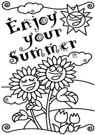 summer color pages enjoy your summer coloring pages kids coloring pages pinterest