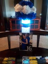 34 best royal blue wedding centerpieces images on pinterest