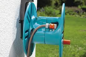 gardena wall mounted removable garden hose reel with hose guide ace