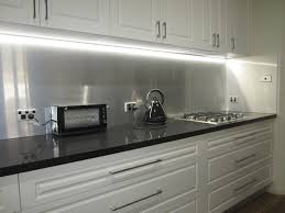 have a look at the brushed aluminium splashback we installed in a