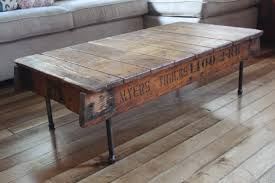 Unique Rustic Coffee Tables Rustic Wood Coffee Table With Metal Legs Best Gallery Of Tables
