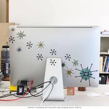 atomic starburst vinyl sticker sheet of 20 laptop and bumper zoom