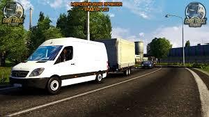 mod car game euro truck simulator 2 mercedes benz sprinter 311cdi trailer v2 5 ets 2 download mod