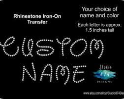 greek letters rhinestone bling iron on 3 in sorority