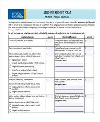 sample budget form printable grants budget form sample budget