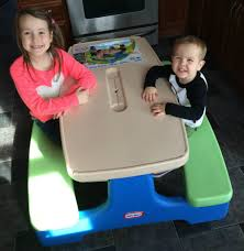 little tikes easy store picnic table shocking little tikes easy store picnic table giveaway momma in flip