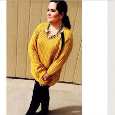 boutique listing plus size mustard knit sweater sale