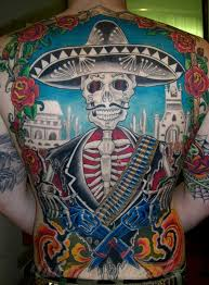 mexican tattoo designs on back photos pictures and sketches