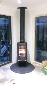 wood burning stove designs corner design ideas kitchen extension