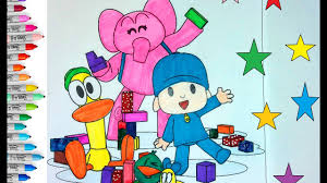 pocoyo friends coloring pages children coloring book